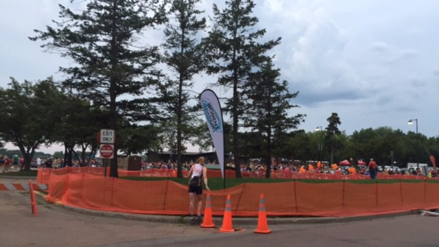 The transition area prior to the race.