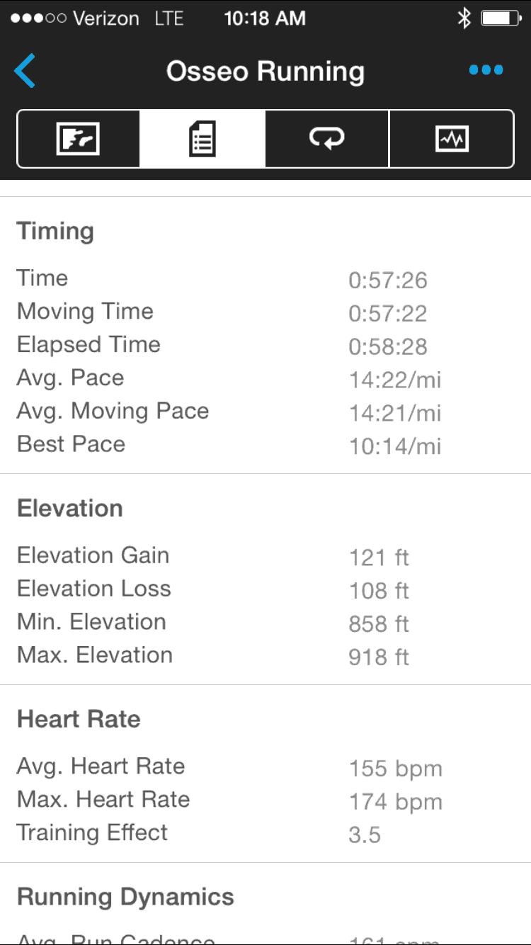 A training run from last week