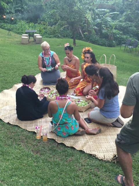 Big Kahuna Luau Leis Making