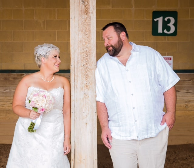 A sneak peak of the wedding pictures!